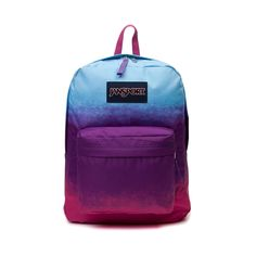 The JanSport Superbreak Backpack features the following details and specifications     Details   One large main compartment   Straight-cut, padded shoulder straps   Front utility pocket with organizer   23 padded back panel   Web haul handle
