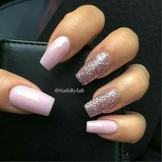 pale pink and rose gold glitter nails # fashionaccessories # . - pale pink and rose gold glitter nails # fashionaccessories - Blush Pink Nails, Pink Glitter Nails, Rose Gold Nails, Glitter Hair, Glitter French Nails, Glitter Toms, Glitter Manicure, Pink Nail Art, Glitter Eyeshadow