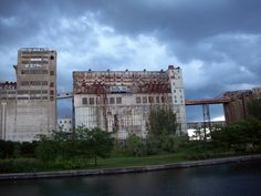 abandoned flour mill, Montreal, Canada
