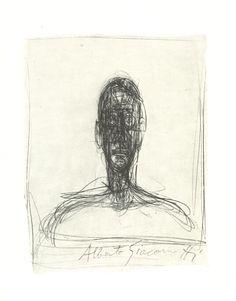 Alberto Giacometti, Head of a man, 1954