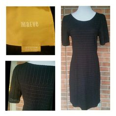 Maeve Dress by Anthropologie...Size Medium Beautiful Black Dress in Med. Material does have some stretch. Measures approx 38 in from shoulder to hem. Maeve Dresses Midi