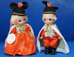 Fall-ing For You Halloween 2013 Disney Precious Moments Doll Set Signed 4958 #PreciousMomentsDisneyParksexclusive #Halloween
