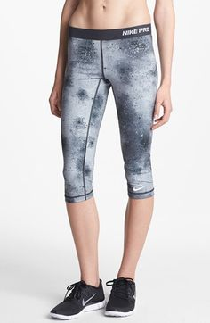 Nike Pro Print Capri Leggings | Nordstrom $45