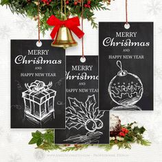 Printable Christmas Tags Labels Chalkboard  DIY 20 by AmeliyCom, $5.00 INSTANT DOWNLOAD Printable Christmas Tags Labels Chalkboard Vintage, Retro xmas gift Tag, Holidays Happy New Year favors Label. DIY Digital for home printing  These tags are perfect to decorations, party favors and gift tags, labels, party hat labes, stickers, magnets, badget, scrapbook card making, image decoupage and etc.