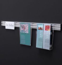wall mounted brochure display rack DESK-UP by Acropoli, Caimi Lab Caimi Brevetti SpA