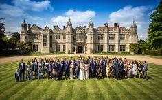 Wedding party at Hengrave Hall, Suffolk #weddingvenue
