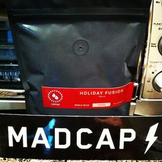 The Coffee    Beans: Holiday Fusion Blend  Roaster: MadCap Coffee Company