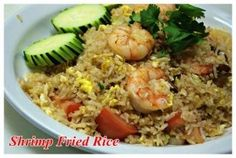 Shrimp Fried Rice :Shrimp, egg, onions, and tomatoes  from Mai Thai Restaurant in Fountain Valley #Food #Shrimp #Fried forked.com