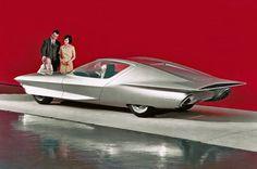 1964 Pontiac Firebird 4 GM Concept Car 4x6 Postcard