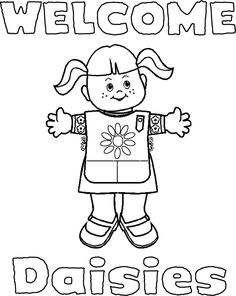 Coloring Pages For Daisy Scouts   girl scout coloring page super coloring welcome signs for daisies and ...