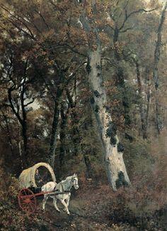 Palizzi Giuseppe Interno della foresta di ....