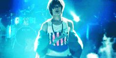 Taemin licking his lips. It's a .gif of course.