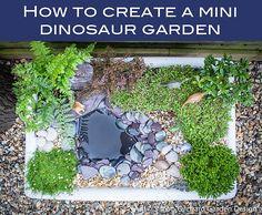 How to create a mini dinosaur garden - Simon Orchard Garden Design Dino Park, Dinosaur Park, Dinosaur Garden, Unique Gardens, Reggio Emilia, Garden Projects, Garden Inspiration, Garden Landscaping, Outdoor Gardens