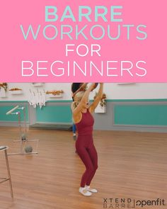 Try these beginner friendly barre workouts you can do at home on Openfit! No barre required! Fitness Workouts, Barre Workouts, Easy Workouts, Fitness Workout For Women, Health And Fitness Tips, Fitness Diet, Barre Workout Video, 7 Minute Workout, Gym Workout For Beginners