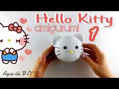Amigurumi Hello Kitty Kedi Yapımı 1. Bölüm - Kafa Yapımı, Örme Bebek - YouTube