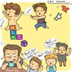 One Direction cartoon | Paul the babysitter
