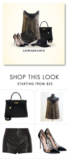 Leopard by styledonna on Polyvore featuring moda, Pierre Balmain, Gianvito Rossi and Hermès