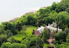 Historic Chicago mansion: Sprawling over five acres, the estate has seen its fair share of drama since being built in 1915. It was originally a gift from John Sheed (of the Marshall Field fortune) to his daughter Laura on the occasion of her wedding to Charles Schweppe. Not bad for a wedding present.