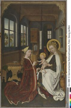 Germanischen Nationalmuseum Nürnberg | Objektkatalog Early Christian, Christian Art, 15th Century Clothing, Renaissance Era, Madonna And Child, Orthodox Icons, Dark Ages, All Saints, Religion