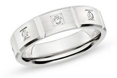 14K White Gold Benchmark 6mm 1/3 Carat Diamond Ladies #Wedding Band #jewellery #weddingband
