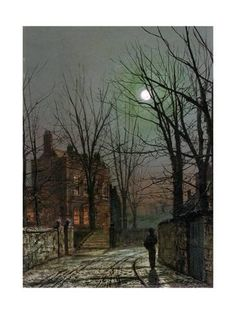 Giclee Print: By the Light of the Moon, 1882 by John Atkinson Grimshaw : 24x18in
