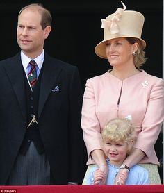 Prince Edward, his wife Sophie and their daughter Lady Louise.