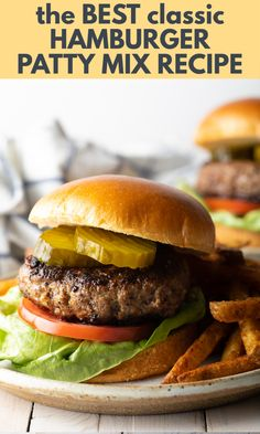 Best Hamburger Patty Recipe, Beef Burger Patty Recipe, Grilled Hamburger Recipes, Homemade Hamburger Patties, Perfect Hamburger, Meat Recipes, Cooking Recipes, Best Recipe For Grilled Hamburgers, Simple Burger Recipe