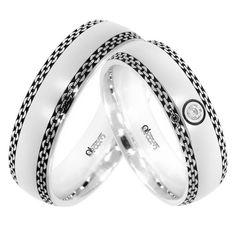 Verighete ATCOM Lux Vaeri aur alb Couple Rings, Bangles, Bracelets, Band Rings, Rings For Men, Wedding Rings, Engagement Rings, Texture, Weddings