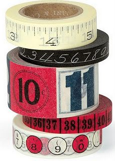 tape with numbers