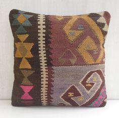 Bohemian Home Decor Kilim Cushion cover Rustic by PillowTalkOnEtsy, $48.00