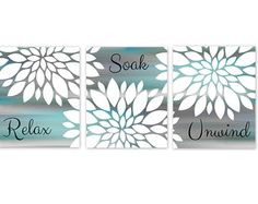 Aqua and Gray Bathroom Decor Awesome Bathroom Wall Decor Teal Bathroom Decor Turquoise Bathroom Teal Bathroom Decor, Bathroom Prints, Grey Bathrooms, Bathroom Wall Decor, Bathroom Colors, Bathroom Ideas, Bathroom Quotes, Bathroom Canvas, Bathroom Paintings