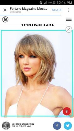 New Hair Blonde Fringe Taylor Swift Ideas Taylor Swift Hot, Taylor Swift Brother, Taylor Swift Haircut, Red Taylor, Celebrity Hairstyles, Hairstyles With Bangs, Trendy Hairstyles, Beauté Blonde, Blonde Fringe