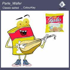 Parle Wafers _ Colour Keys  #VisualDevelopment # pratikartz
