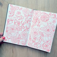 My monthly sketchbook challenge. January 2016 - Day 26 of the 31 things to draw challenge: rose. Klika Design illustrations.