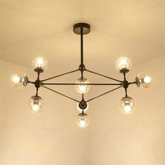 Painted Chandelier, Ceiling Lights, Retro, Lighting, Glass, Home Decor, Decorating Ideas, Style, Homemade Home Decor