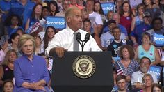 """Vice President Joe Biden excoriated Donald Trump here on Monday, saying his """"shame has no limits"""" and arguing that """"he can't be trusted"""" with America's national security during his first appearance on the campaign trail with Hillary Clinton. Be Bold Be Strong, Executive Privilege, The Enemy Within, Sean Hannity, Cnn Politics, Joe Biden, Social Justice, Master Class, Rally"""