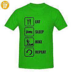 Eat Sleep Hike Repeat Black Graphic Men's T-Shirt XX-Large (*Partner-Link)