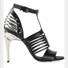 FENDI caged heels new in box with dustbag sz. 7.5 Brand new in box with dust bag. Runway heels FENDI Shoes Heels