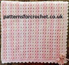 Free baby crochet pattern Afghan blanket USA .