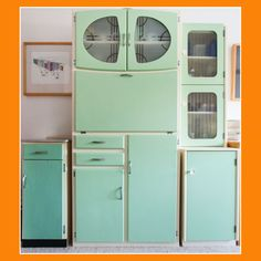 Restoration of Vintage Kitchen Larder Units - Retro, Vintage China, Glassware, Kitchenalia, fabrics and books - yay retro!
