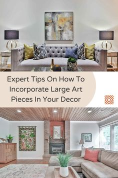 Is your living room lacking a focal point or maybe a splash of color? A large-scale art piece could be the perfect solution. Check out these tips and tricks for selecting the right art pieces, and incorporating them in your home interior the right way.