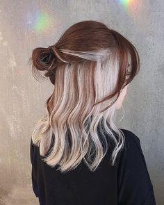 Under Hair Dye, Under Hair Color, Hidden Hair Color, Two Color Hair, Hair Color Streaks, Hair Dye Colors, Skunk Hair, Hair Color Underneath, Peekaboo Hair