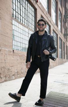 Black on Black on Black Street Style  leather  jacket  motojacket   losangeles   9b57152fd5