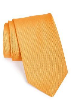 Men's David Donahue Solid Silk Tie