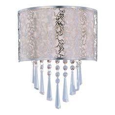 Maxim Lighting 22297 2 Light Rapture Wall Sconce, Satin Nickel