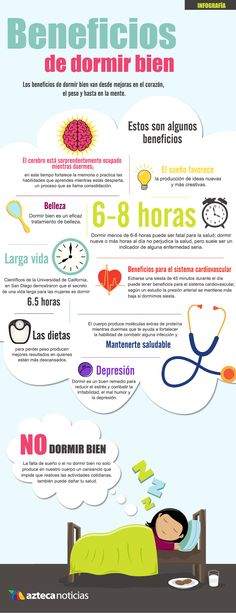 Beneficios de dormir bien. #Salud