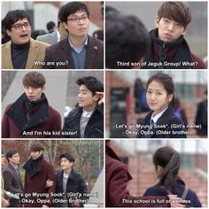 Those two are so funny the heirs ep 16