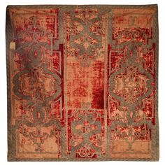 A 17th century panel or table carpet. LONG. 183 cm - LARG. 163 cm - 72 1/16 X 64 3/16 IN.