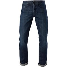 3x1 M4 Low Rise Straight ($285) ❤ liked on Polyvore featuring men's fashion, men's clothing, men's jeans, men, men wear, drifters, mens faded jeans, mens relaxed fit jeans, mens relaxed boot cut jeans and mens straight jeans