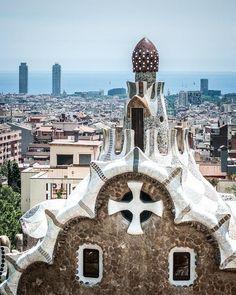 Gaudi Over Barcelona, Spain Photography